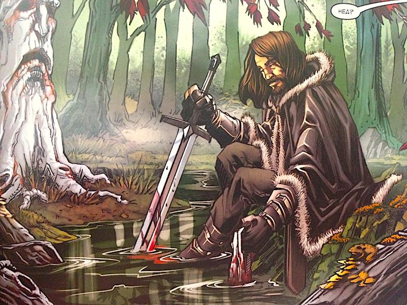 Нед Старк правит Винтерфелом - северными землями в Игре престолов книга 1